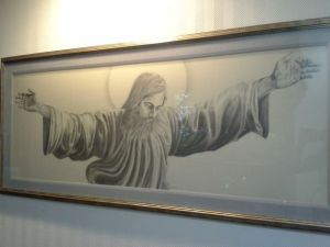 Pencil drawing of Jesus. The detail is amazing.