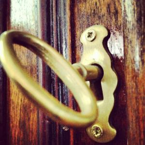 keyhole and key